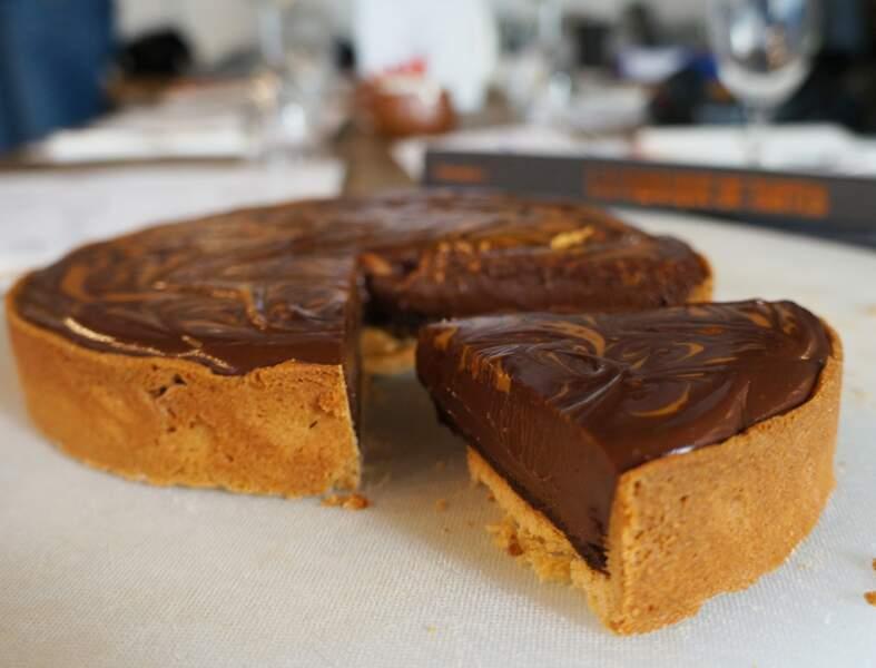 La tarte chocolat cacahuètes hyper facile en vidéo