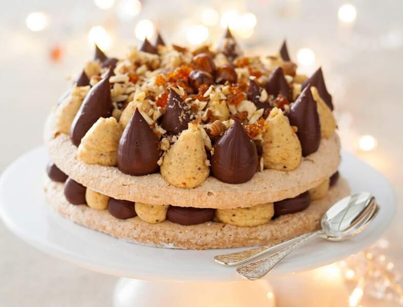 Dacquoise praliné-chocolatde Christophe Michalak