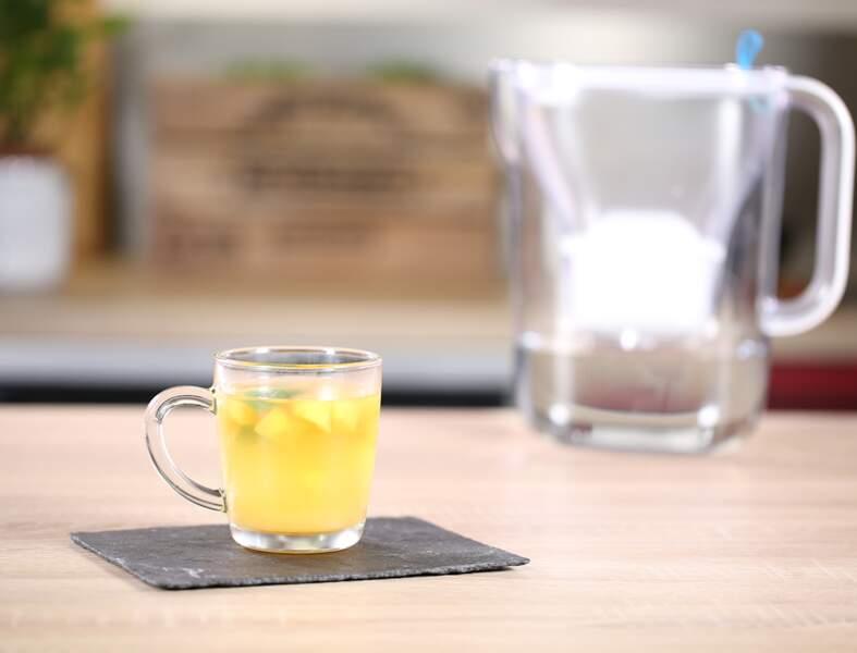 La recette de l'Ice Tea pêche-menthe à l'eau filtrée