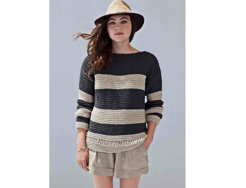 Tricot : le pull à rayures fantaisie