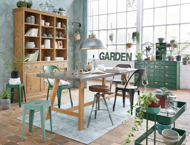 Déco de salle à manger esprit botanique