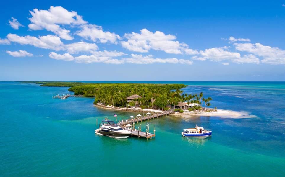 Une île privée, Floride, États-Unis