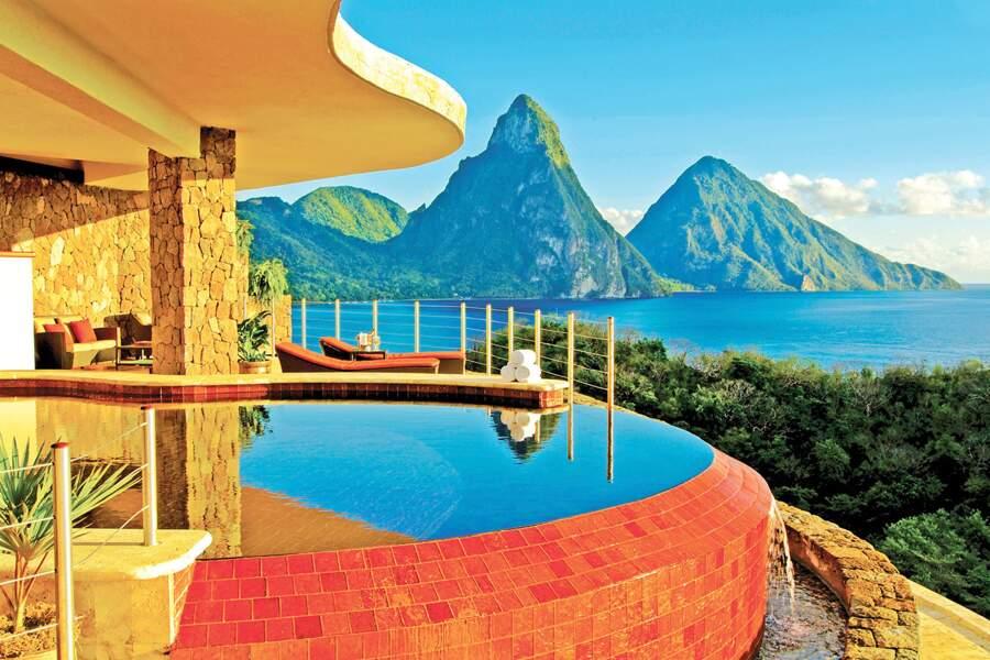 Un hôtel sur la montagne, Sainte-Lucie