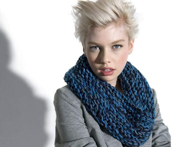 Modèle de tricot gratuit : un snood à tricoter