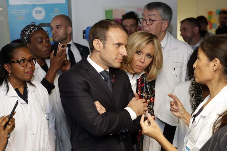 Brigitte Macron et son époux Emmanuel.