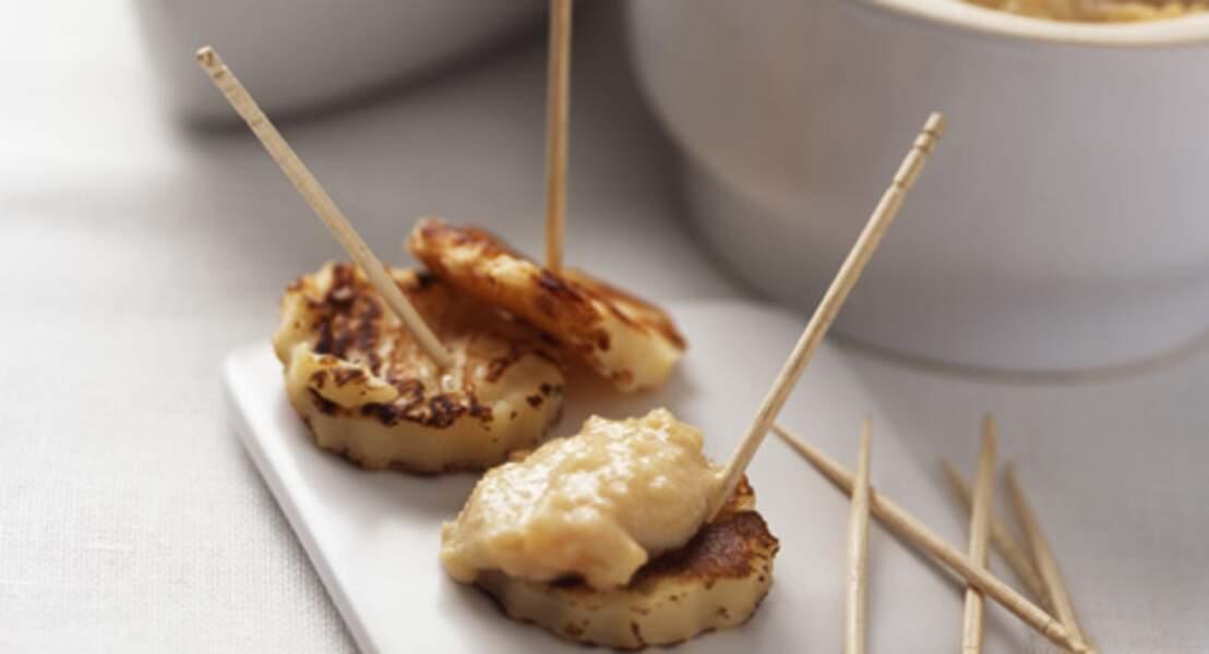 Minicrêpes au yaourt et tarama