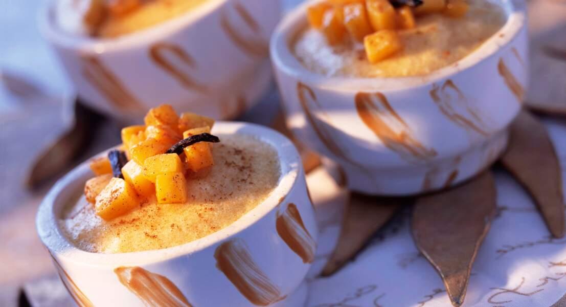 Mousse de mangue vanillée