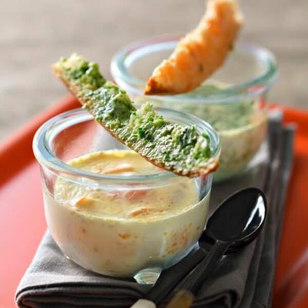 Menu entre copains - Cocottes saumon et fines herbes