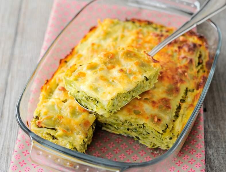 Gratin de ravioles aux courgettes et saumon