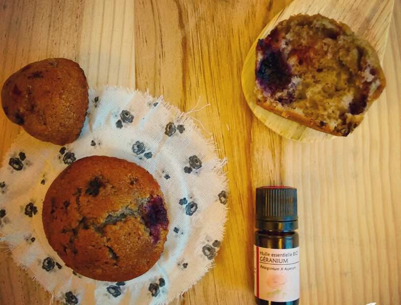 Muffins à l'huile essentielle de géranium