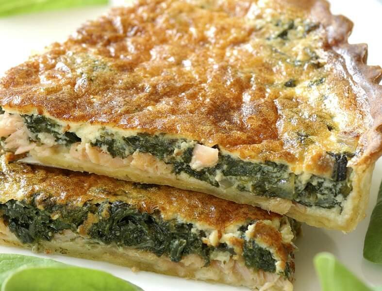 tarte saumon épinard frais