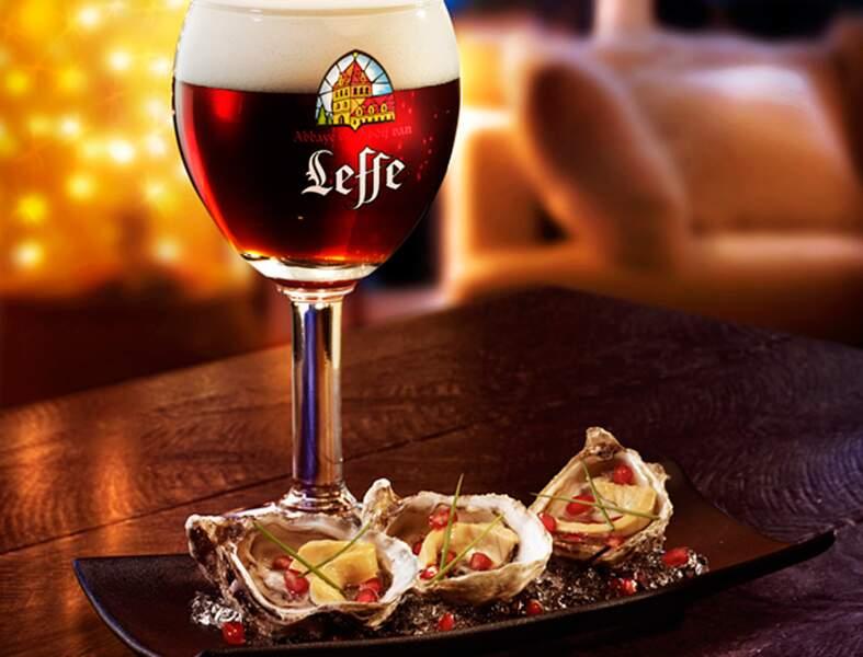 Les huîtres Marennes d'Oléron au foie gras et graines de grenade d'Hélène Darroze