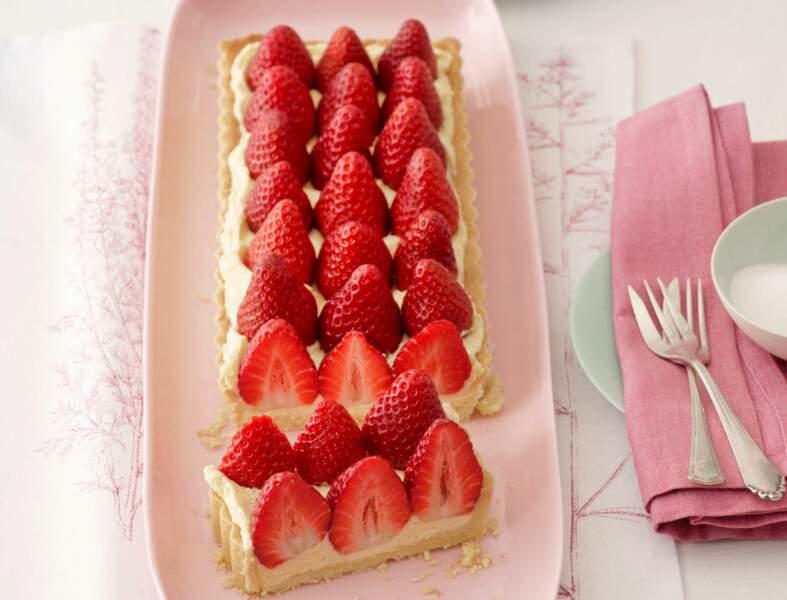 Tarte aux fraises à la crème chiboust