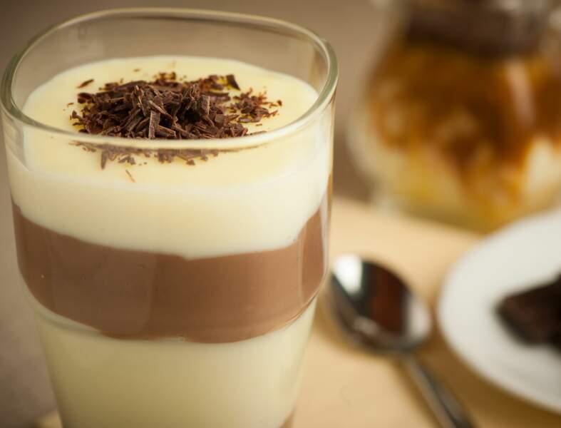 Verrine chocolat vanille