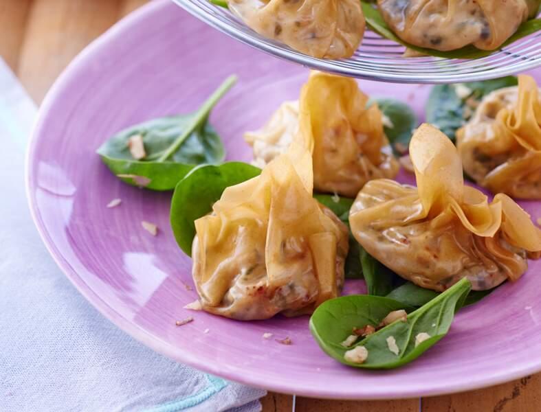 Raviolis originaux à la fêta et aux épinards