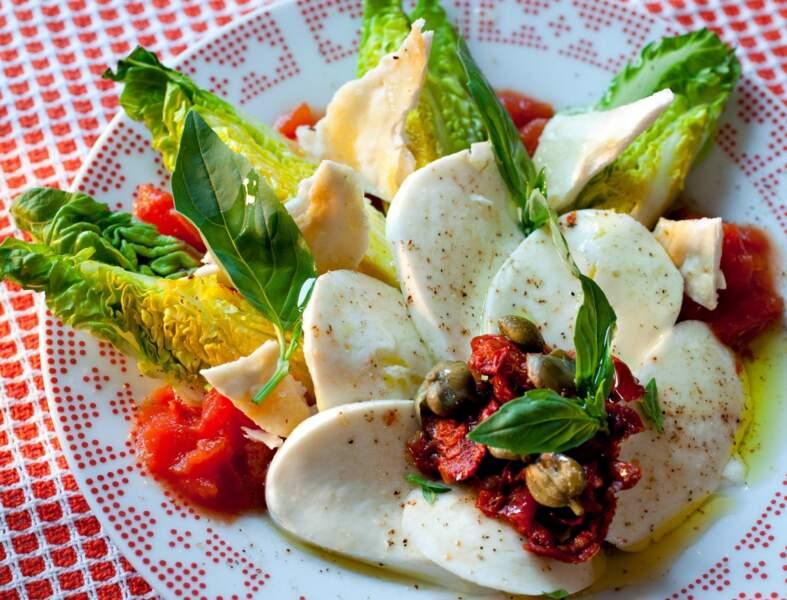 Salade caprese de printemps