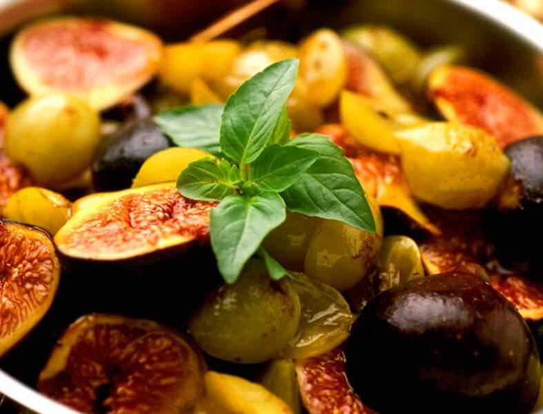 Mi-figue mi-raisin au miel (Au wok)