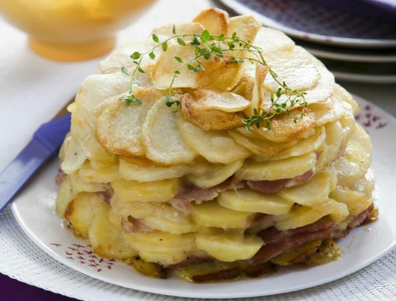 Pommes de terre et jambon express