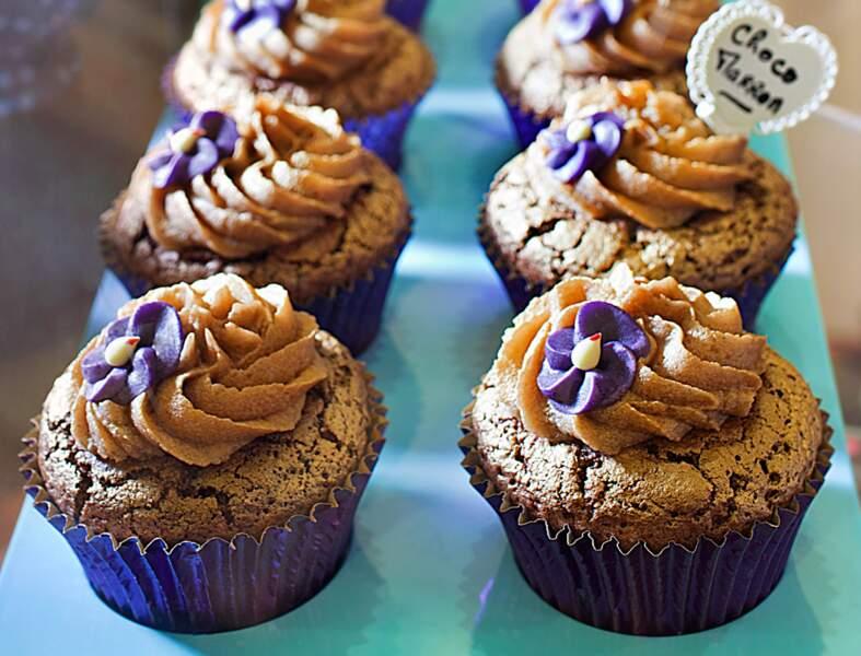 Cupcake au chocolat et mousse de marrons (Choco Marron)