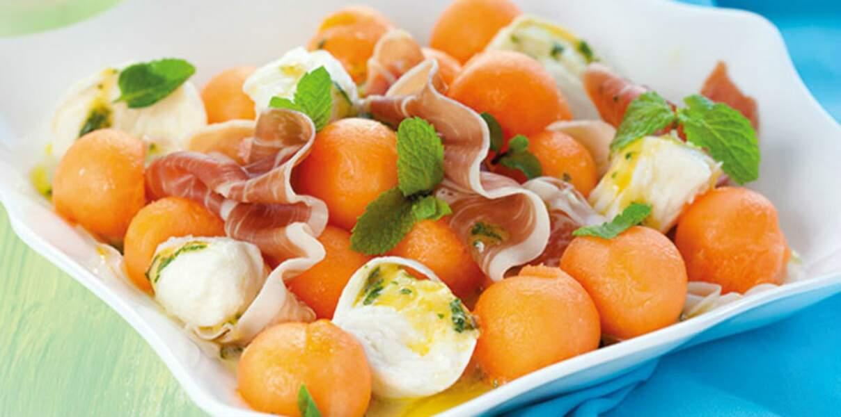 Salade de melon fraîcheur