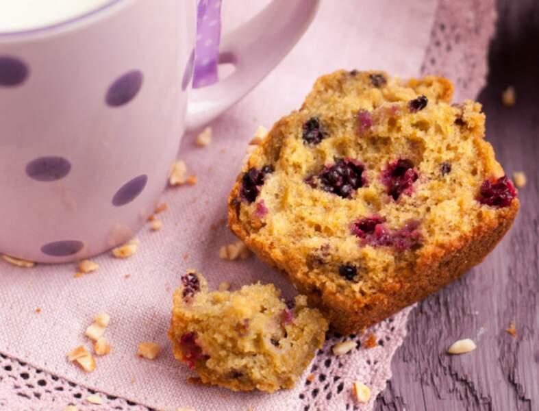 Muffins aux mûres sauvages façon gâteau au yaourt