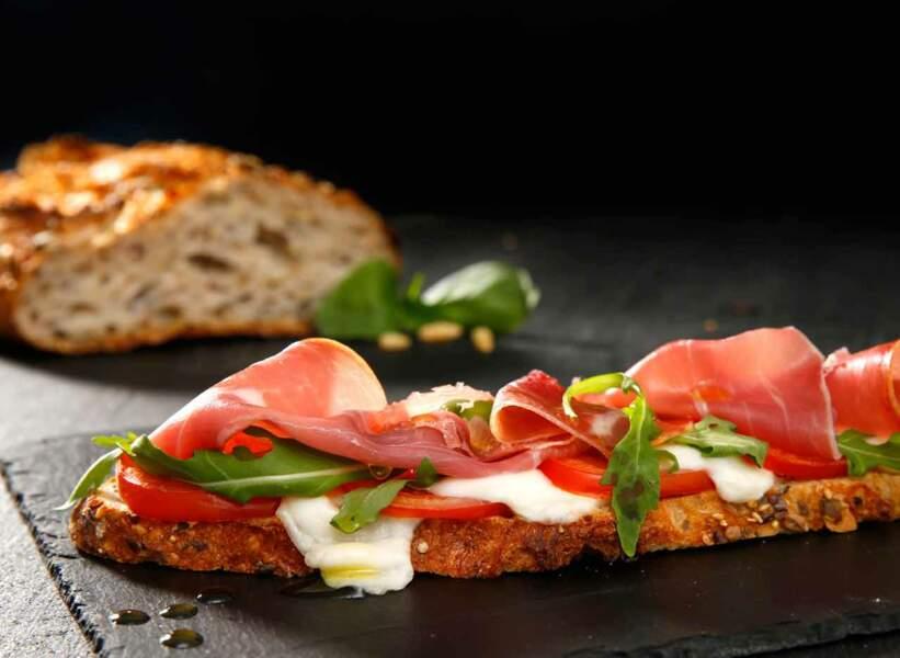 Tartine tomate mozzarellaprêt en 10 minutes