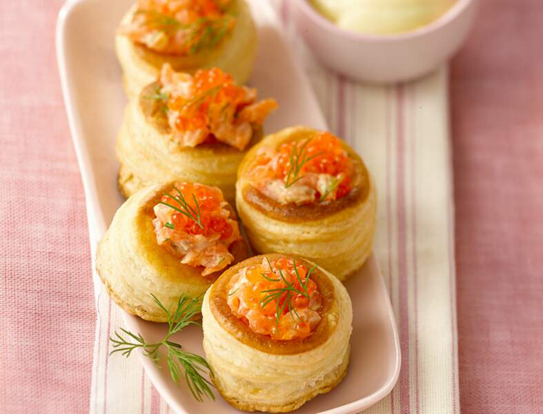 Bouchées citronnées au saumon fumé