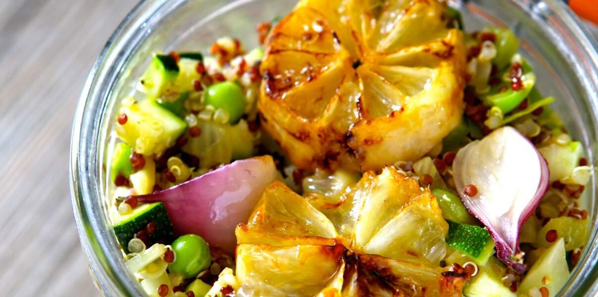 Taboulé de quinoa aux citrons poêlés