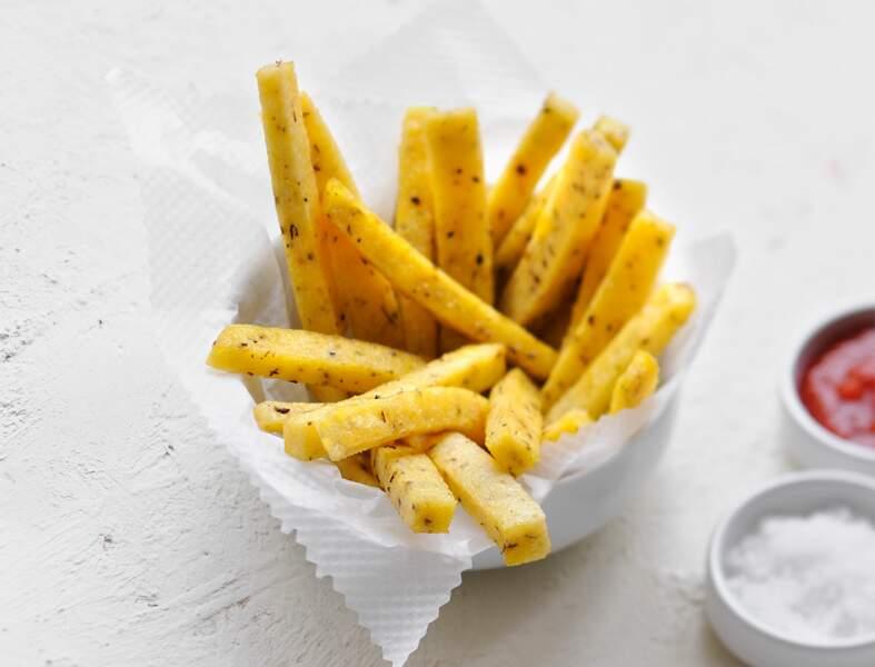 Tranches de polenta frites
