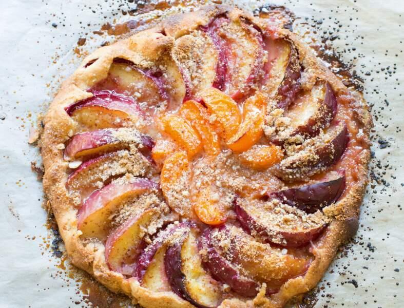 Tarte-galette aux abricots et pêches de Catherine Kluger