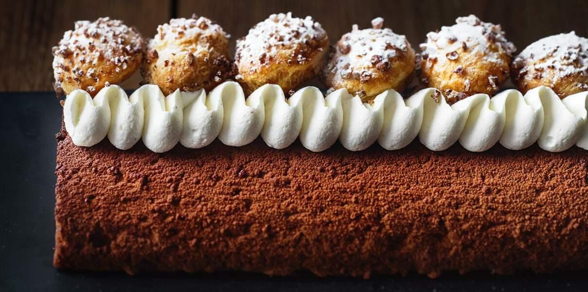 Le cake façon profiteroles de Nicolas Bernardé