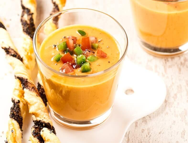 Gaspacho aux légumes méditerranéens