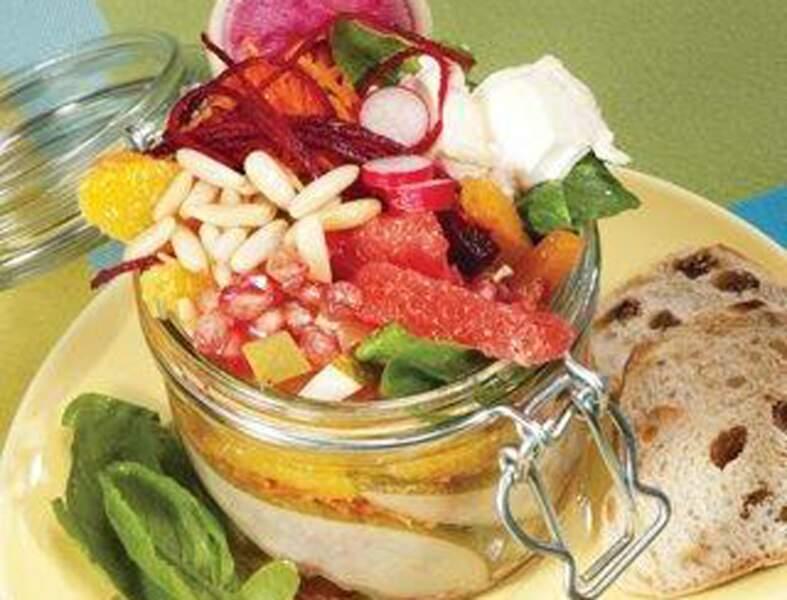Salade gourmande sucrée salée