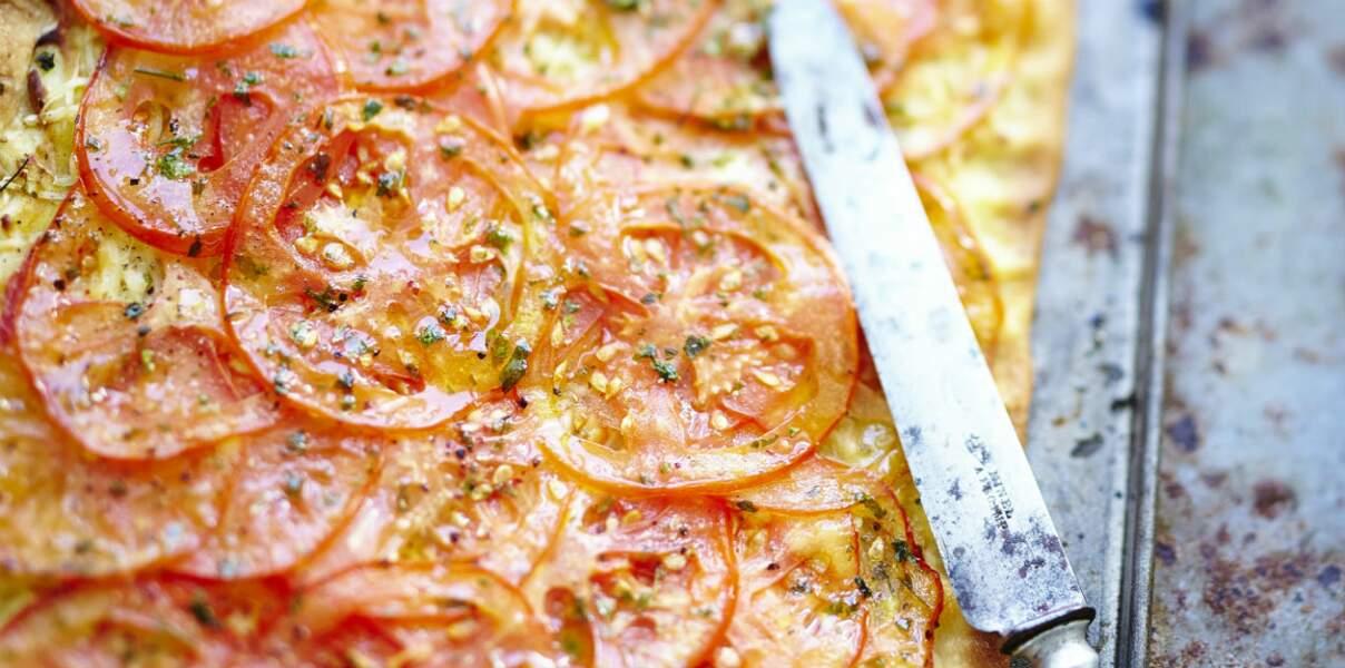 Tarte fine à la tomate rapide
