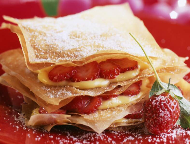 Craquant crémeux aux fraises