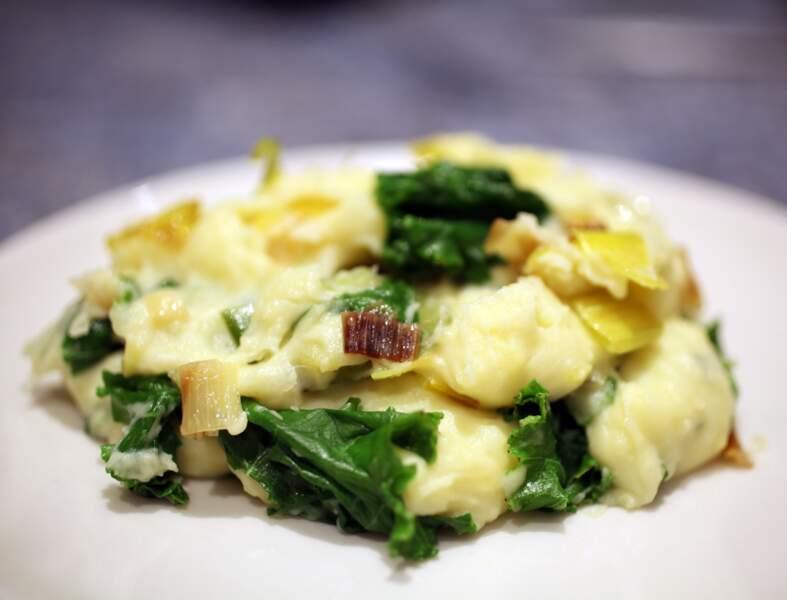 Purée de pommes de terre et de chou kale à l'irlandaise