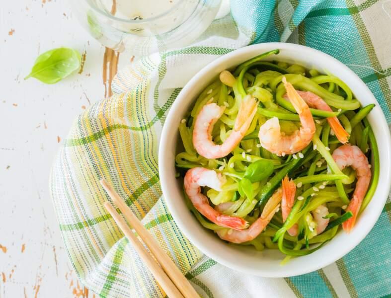 Salade de courgettes sucrées-salées