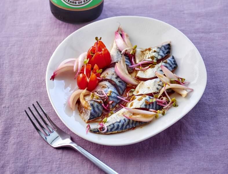 Filets de maquereaux marinés