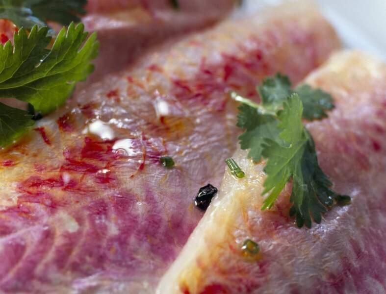 Filets de rougets marinés