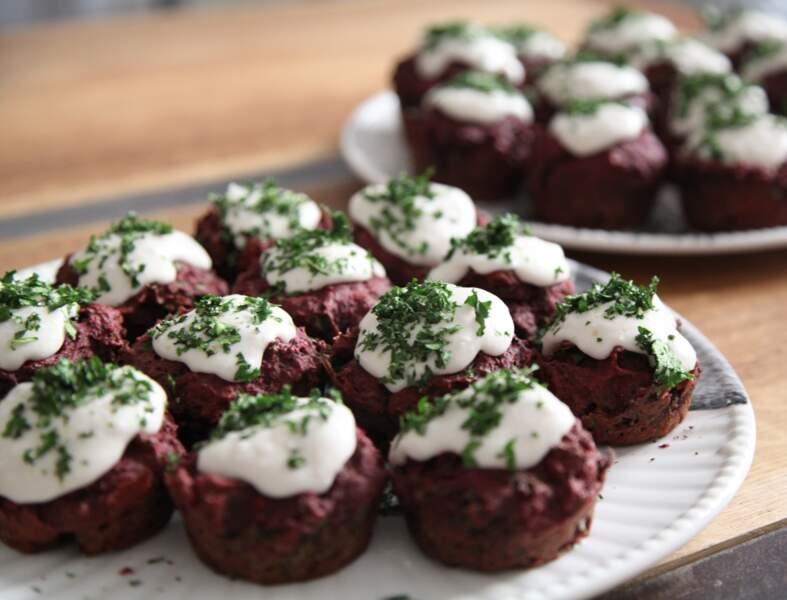 Cupcakes au chou kale et à la betterave
