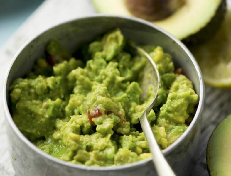 Guacamole mexicain prêt en 15 min