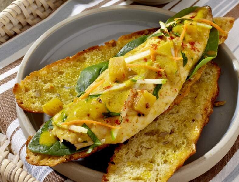 Gaspacho de courgettes et de maquereau à l'indienne