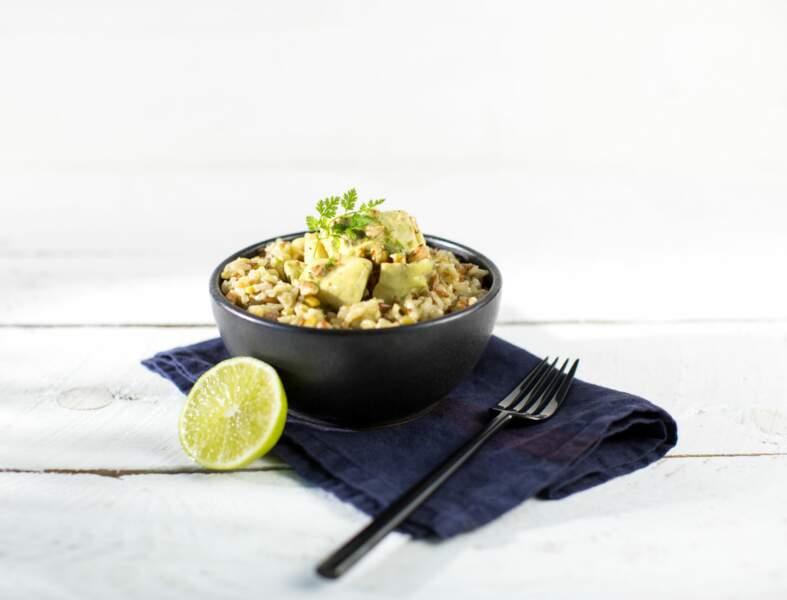 Curry de maigre à la noix de coco