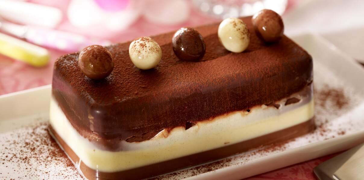 Terrine aux trois chocolats de Trish Deseine