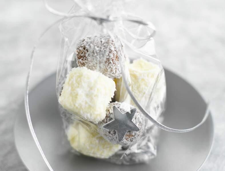 Guimauves choco-vanille, à la noix de coco