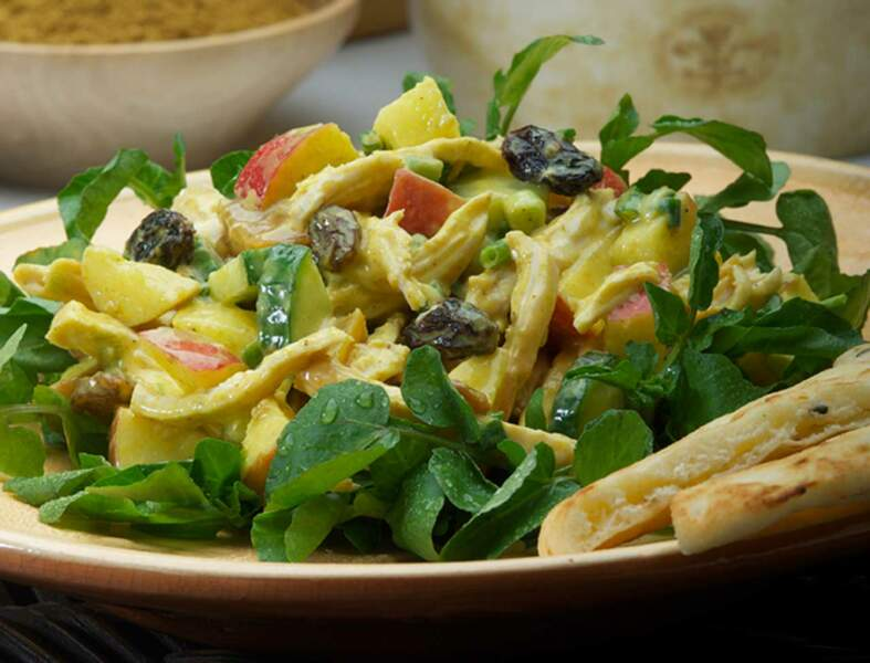 Salade sucrée-salée de pommes Jazz au curry et gingembre
