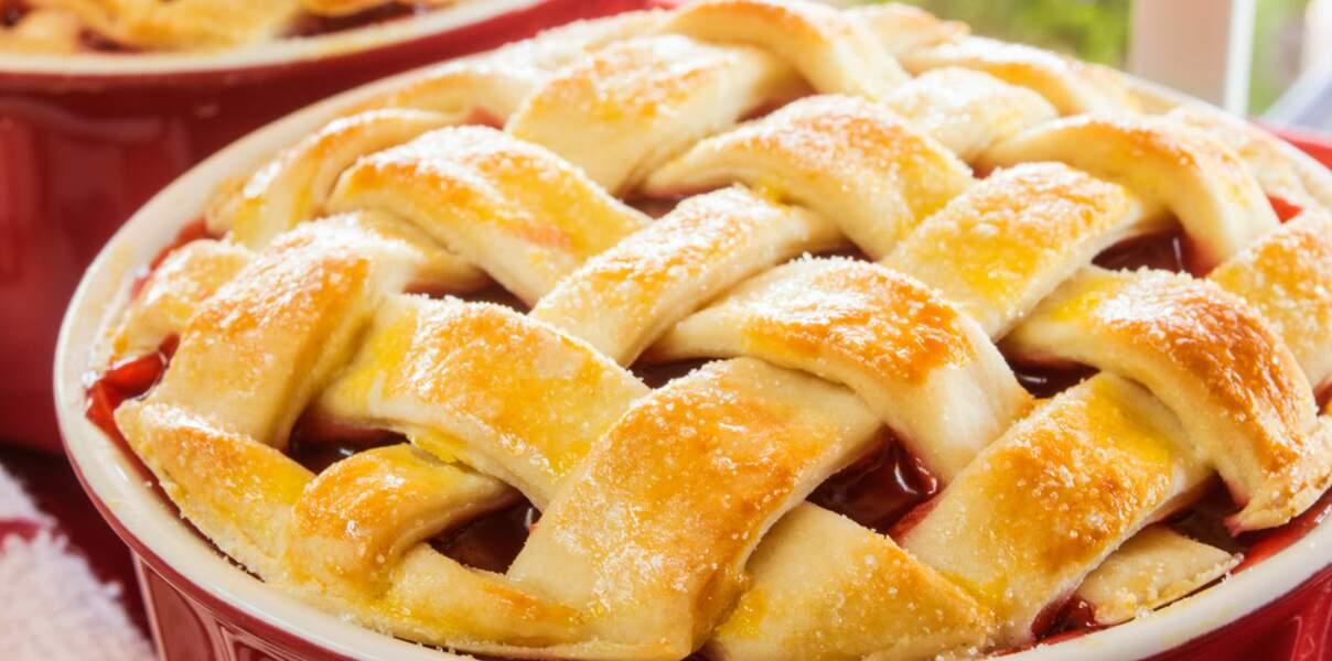 Tarte aux griottes et à la pomme