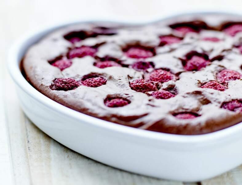 Gâteau chocolat-framboise