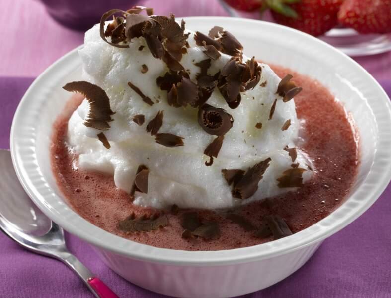 Ile flottante choco-fraise