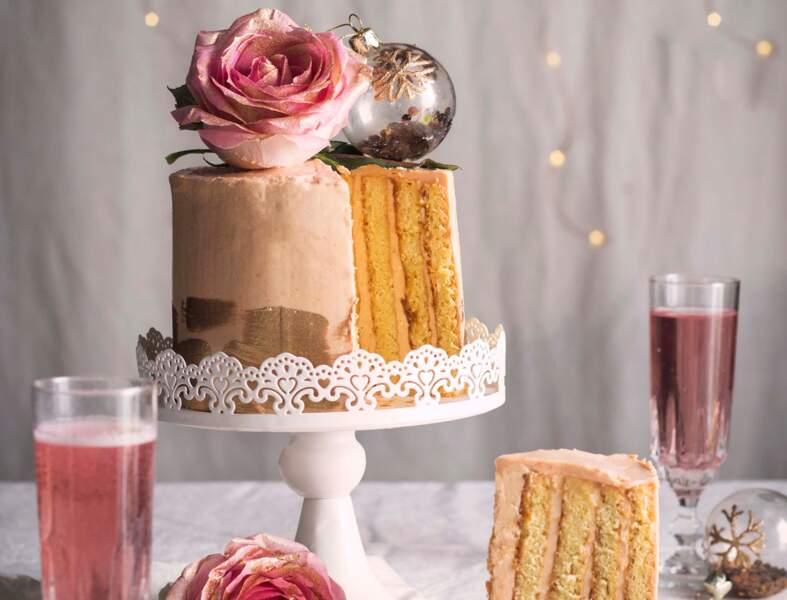 Chiffon cake à la rose